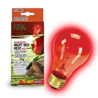 Night Red Heat Incandescent Bulb 75W Boxed