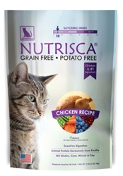Nutrisca Grain and Potato Free Cat Food, Chicken, 13 lbs