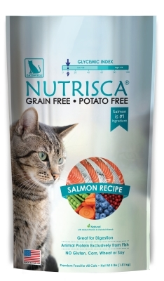 Nutrisca Grain and Potato Free Cat Food, Salmon, 4 lbs