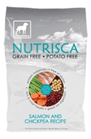 Nutrisca Grain and Potato Free Dog Food, Salmon & Chickpea, 28 lbs