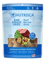 Nutrisca Raw Freeze Dried Dinner Bites, Beef, 11 oz