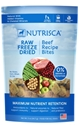 Nutrisca Raw Freeze Dried Dinner Bites, Beef, 5 oz