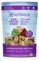 Nutrisca Raw Freeze Dried Dinner Bites, Chicken, 5 oz