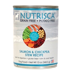 Nutrisca Salmon & Chickpea Stew Canned Dog Food, 13 oz - 12 Pack