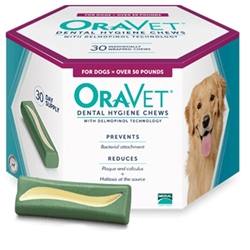 Oravet Dental Chews, 30 ct |  Large Dogs Over 50 lbs
