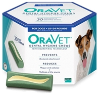 Oravet Dental Chews, 30 ct |  Small Dogs 10 - 24 lbs