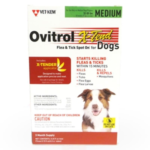 Ovitrol X-Tend for Medium Dogs 32-55 lbs, 3 Month (Green)