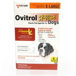 Ovitrol X-Tend for X-Large Dogs 81 lbs and Over, 3 Month (Orange)