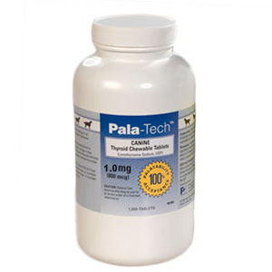 Pala-Tech Canine Thyroid Tablets 1.0 mg, 180 Chewable Tablets