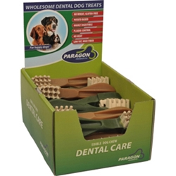 Paragon Extra Large Toothbrush Dental Chews for Dogs, 18 ct