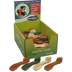 Paragon Large Toothbrush Dental Chews for Dogs, 30 ct