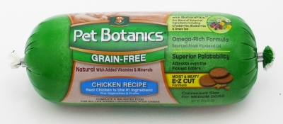 Pet Botanics Grain-Free Chicken Recipe Food Roll, 2 lbs