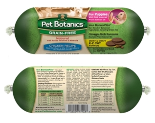 Pet Botanics Grain-Free Chicken Recipe Food Roll for Puppies, 13 oz