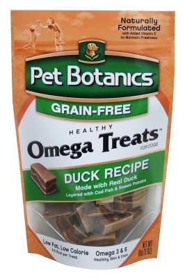 Pet Botanics Grain-Free Healthy Omega Treats, Duck, 3 oz