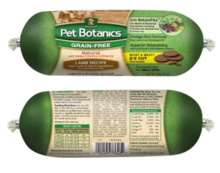 Pet Botanics Grain-Free Lamb Recipe Food Roll, 13 oz