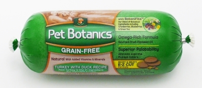 Pet Botanics Grain-Free Turkey & Duck Recipe Food Roll, 13 oz
