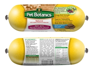 Pet Botanics Whole Grain Beef & Bacon Recipe Food Roll, 13 oz
