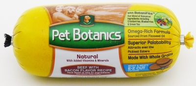 Pet Botanics Whole Grain Beef & Bacon Recipe Food Roll, 2 lbs