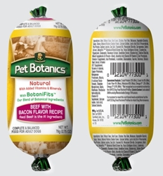 Pet Botanics Whole Grain Beef & Bacon Recipe Food Roll, 2.75 oz