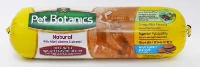 Pet Botanics Whole Grain Beef & Bacon Recipe Food Roll, 6 lbs
