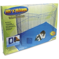 "Pet N%27 Playpen with Mat, 29"" x 18"""