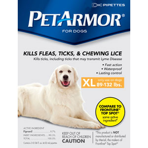 PetArmor for Dogs 89-132 lbs, 12 Pack