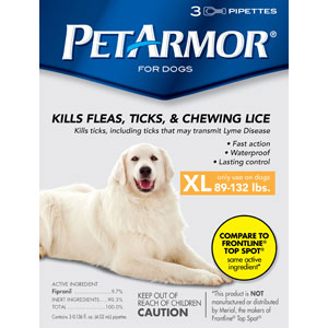 PetArmor for Dogs 89-132 lbs, 3 Pack