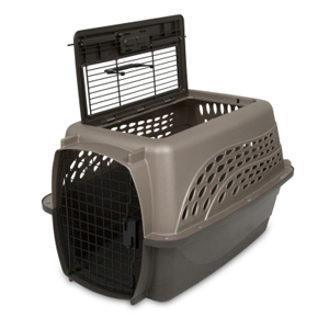 Petmate 2-Door Kennel Tan & Coffee, 24""