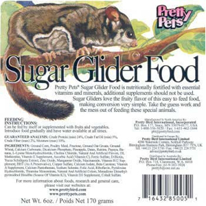 Pretty Pets Sugar Glider Food, 20 lb
