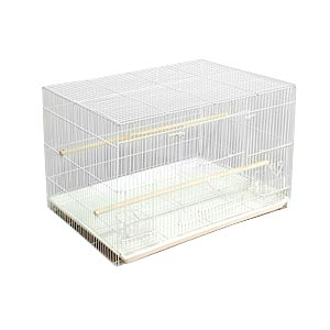 "Prevue Black & White Flight Cage, 23.5"" x 16"" x 16"" - 4 Pack"