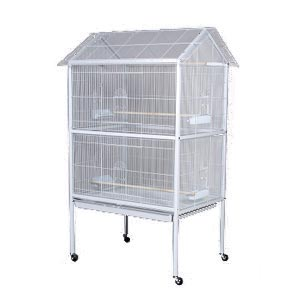 "Prevue Chalk White Flight Aviary Cage, 37"" x 27"" x 68"""