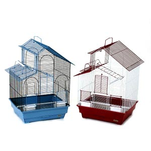 "Prevue Hendryx House Style Parakeet Cage, 16"" x 14"" x 24"" - 2 Pack"