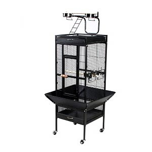 "Prevue Hendryx Select Signature Black Cockatiel Cage, 18"" x 18"" x 57"""