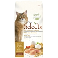 Pro Plan Selects Cat Food Natural Chicken & Brown Rice, 7 lb - 5 Pack