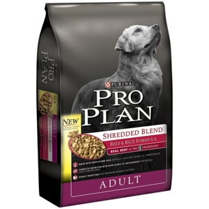 Pro Plan Shredded Blend Dog Food Beef & Rice, 18 lb
