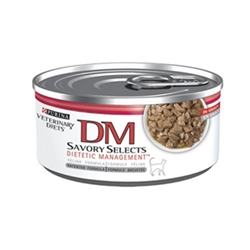 Purina DM Savory Selects Dietetic Management in Gravy Canned Cat Food, 24 x 5.5 oz