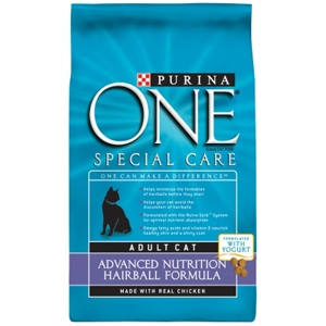 Purina One Hairball Formula Cat Food, 7 lb - 4 Pack