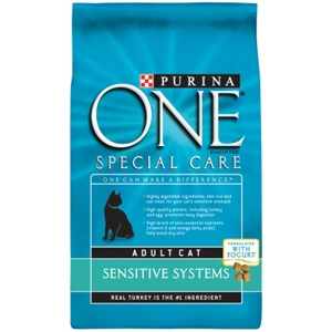 Purina One Sensitive Systems Cat Food, 7 lb - 4 Pack
