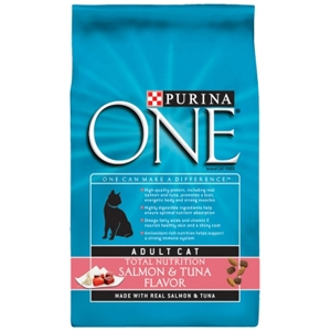 Purina One SmartBlend Cat Food Salmon & Tuna, 3.5 lb - 6 Pack