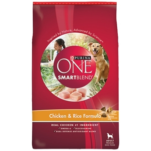 Purina One SmartBlend Dog Food Chicken & Rice, 31.1 lb