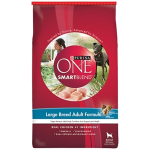 Purina One SmartBlend Dog Food Large Breed Adult Formula, 31.1 lb