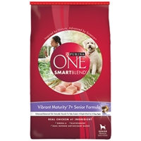 Purina One SmartBlend Dog Food Vibrant Maturity 7+ Senior Formula, 31.1 lb