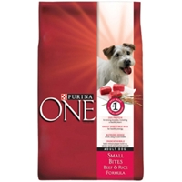 Purina One SmartBlend Small Bites Dog Food Beef & Rice, 34 lb