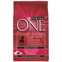 Purina One SmartBlend Small Bites Dog Food Beef & Rice, 8 lb - 5 Pack