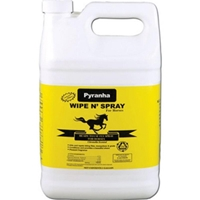 Pyranha Wipe N Spray for Horses, 1 gal