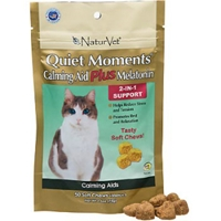 Quiet Moments Calming Aid Plus Melatonin for Cats, 50 Soft Chews
