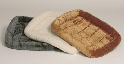 Quiet Time Fur Bed Gray 22X13