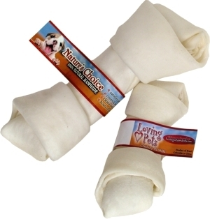 Rawhide White Bone, 8-9 inches