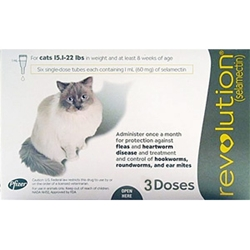 Revolution for Cats 15-22 lbs, 3 Pack (Taupe)