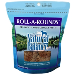 Roll-a-Rounds Dog Treats, 8 oz - 12 Pack